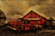 Bill Cannon - Old Red Truck and Barn